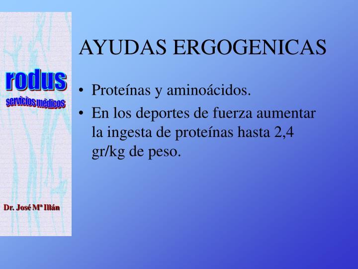 AYUDAS ERGOGENICAS