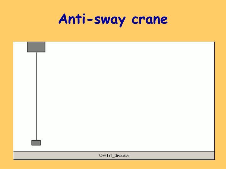 Anti-sway crane