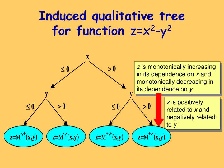 Induced qualitative tree