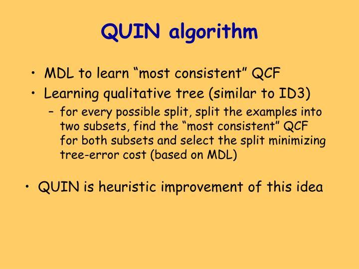 QUIN algorithm