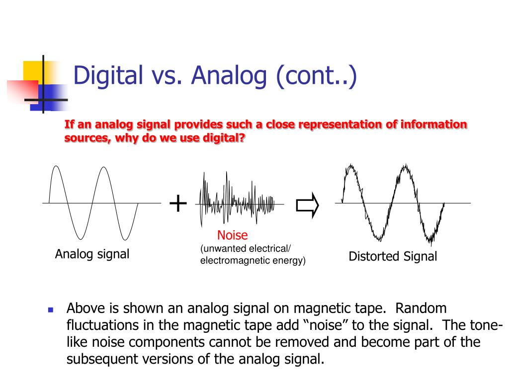 Digital vs. Analog (cont..)