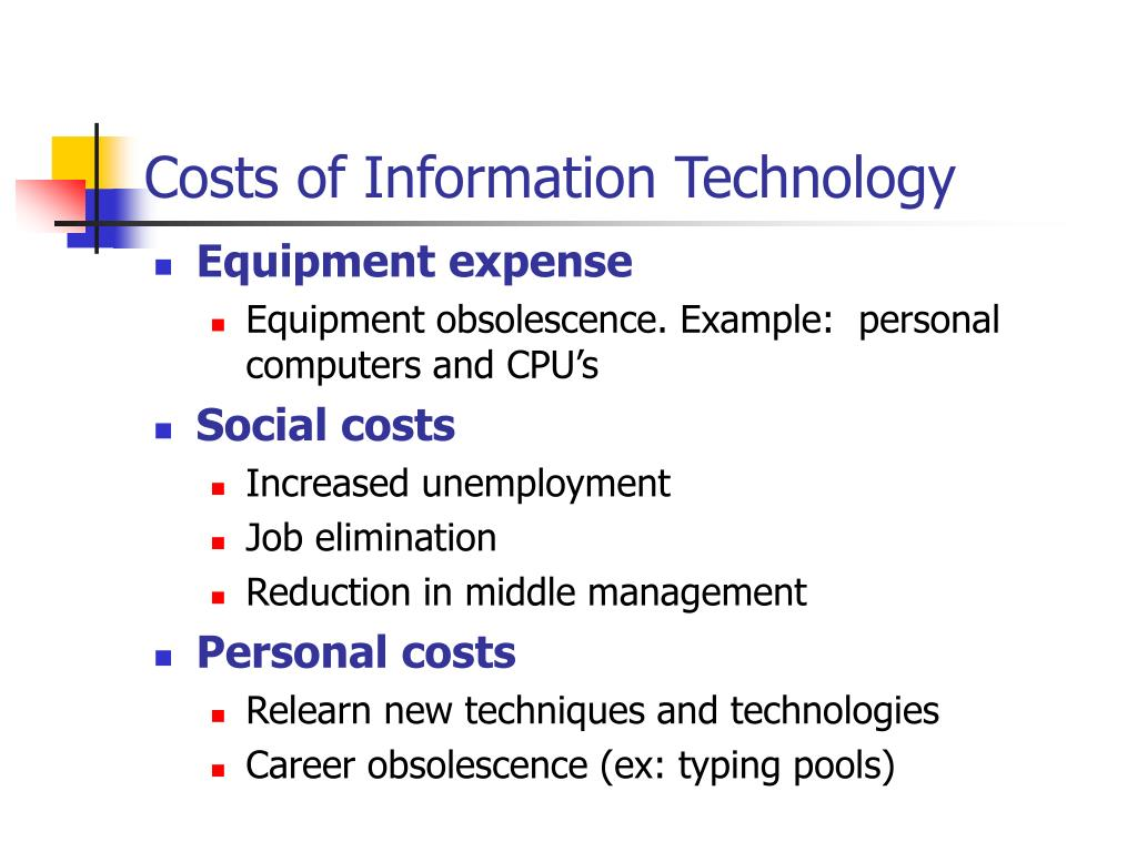 Costs of Information Technology