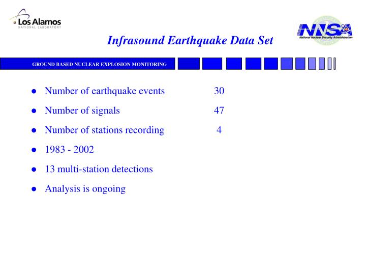 Infrasound Earthquake Data Set