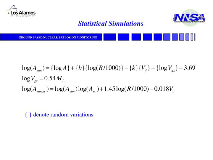 Statistical Simulations