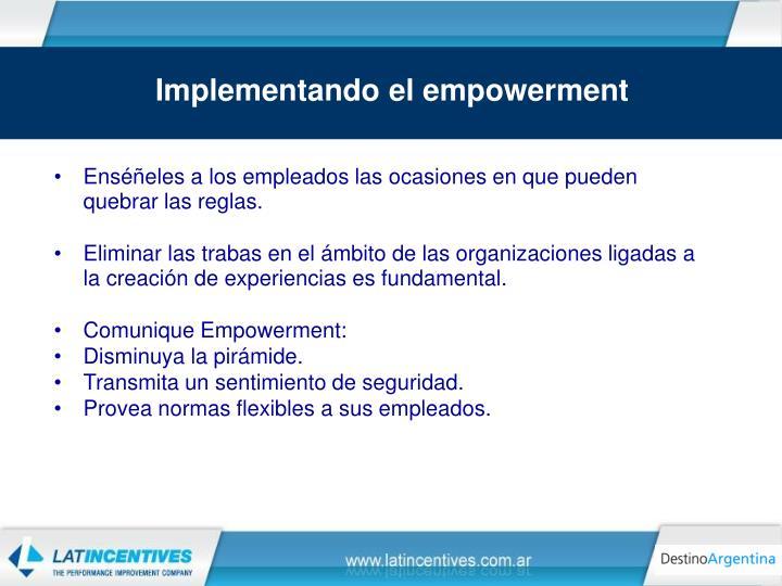 Implementando el empowerment