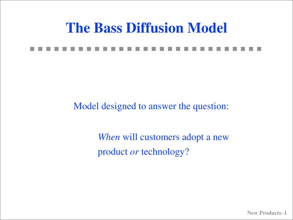 the bass diffusion model