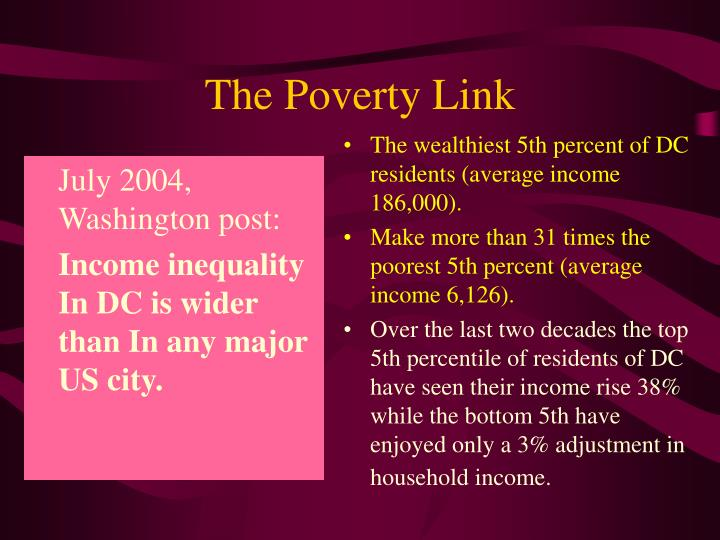 The poverty link