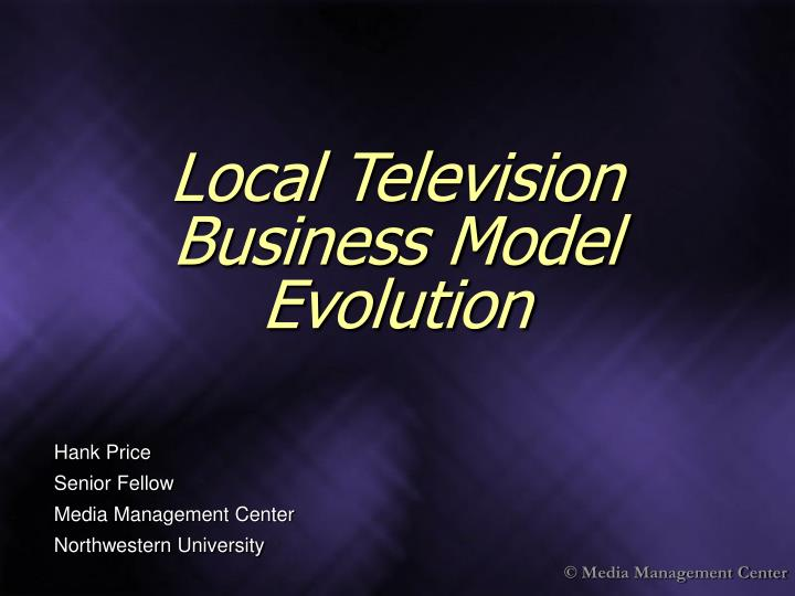Local television business model evolution