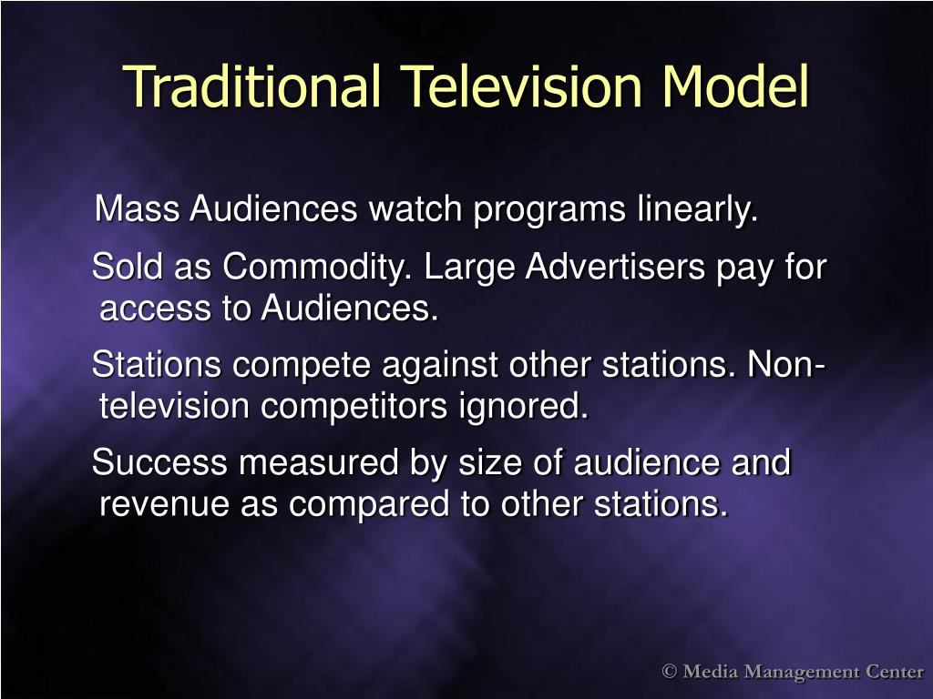 Traditional Television Model