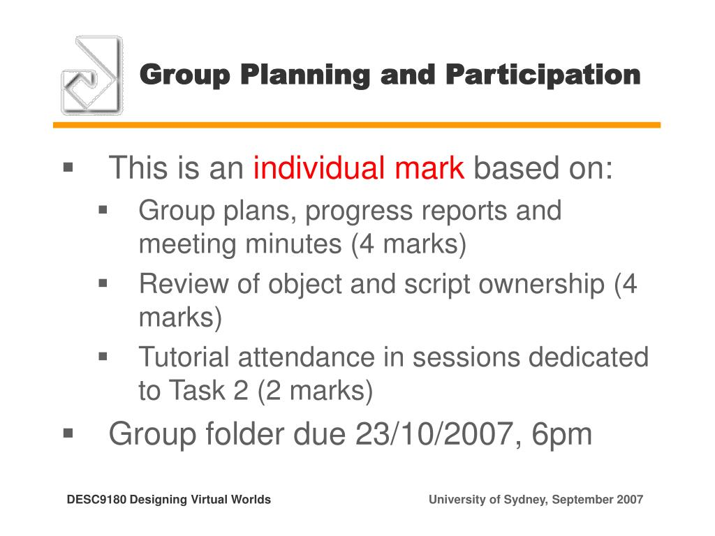 Group Planning and Participation
