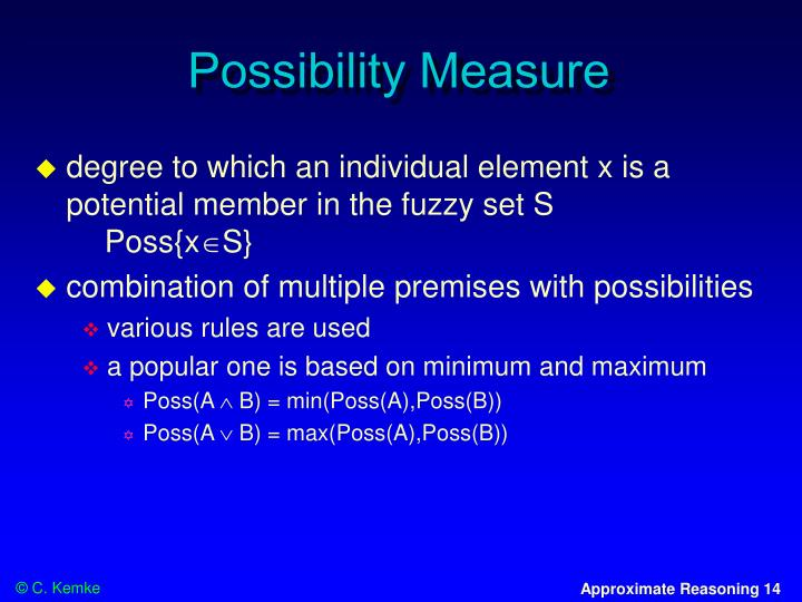 Possibility Measure