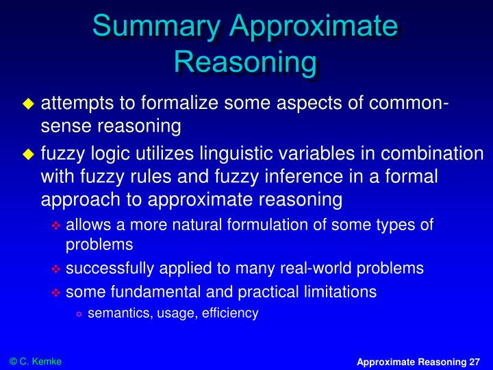 Summary Approximate Reasoning