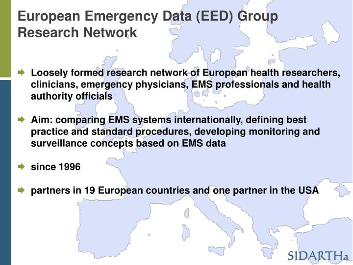European Emergency Data (EED) Group