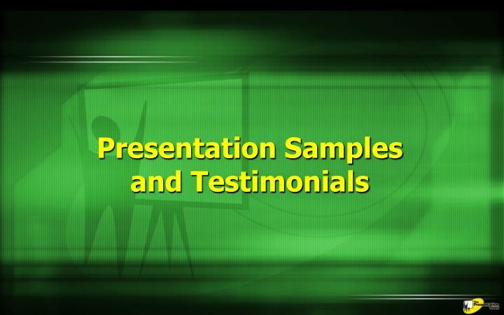 Presentation Samples