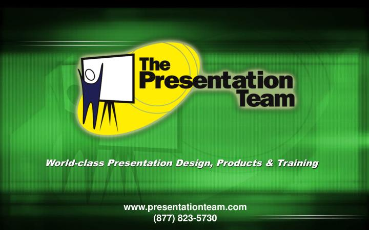 World-class Presentation Design, Products & Training