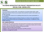 the nepad infrastructure project preparation facility special fund nepad ippf