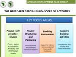 the nepad ippf special fund scope of activities