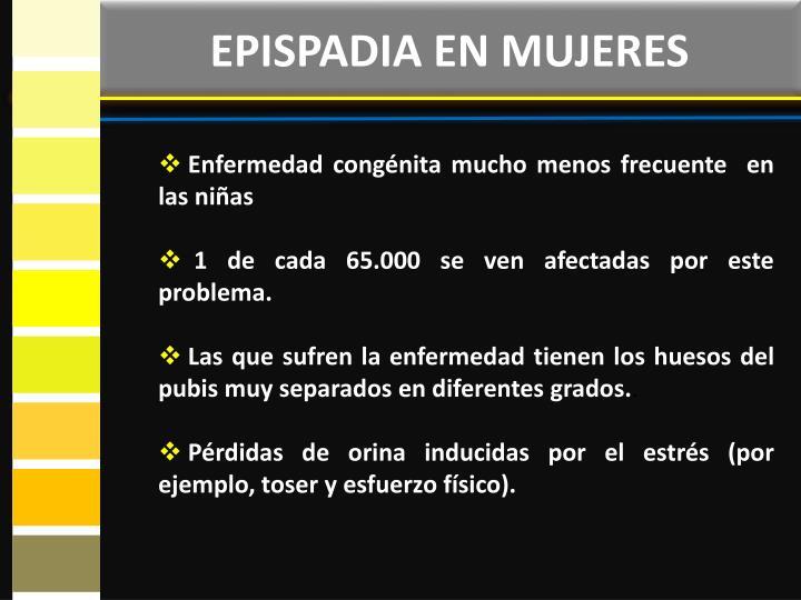 EPISPADIA EN MUJERES