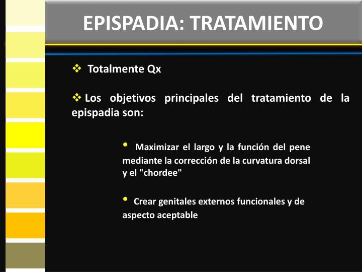 EPISPADIA: TRATAMIENTO