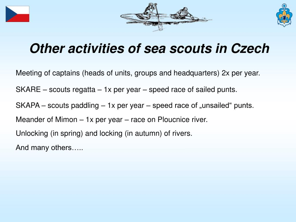 Other activities of sea scouts in Czech