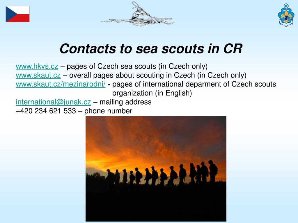 Contacts to sea scouts in CR