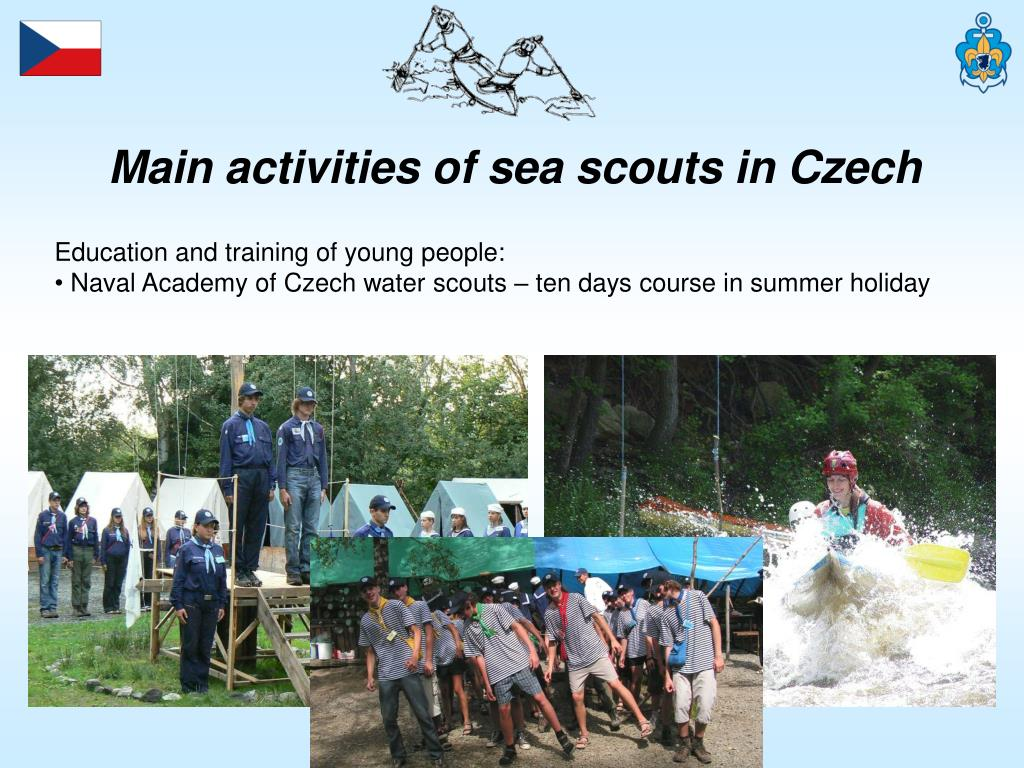 Main activities of sea scouts in Czech