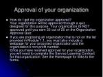approval of your organization