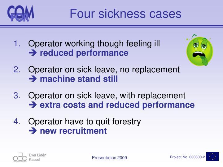 Four sickness cases