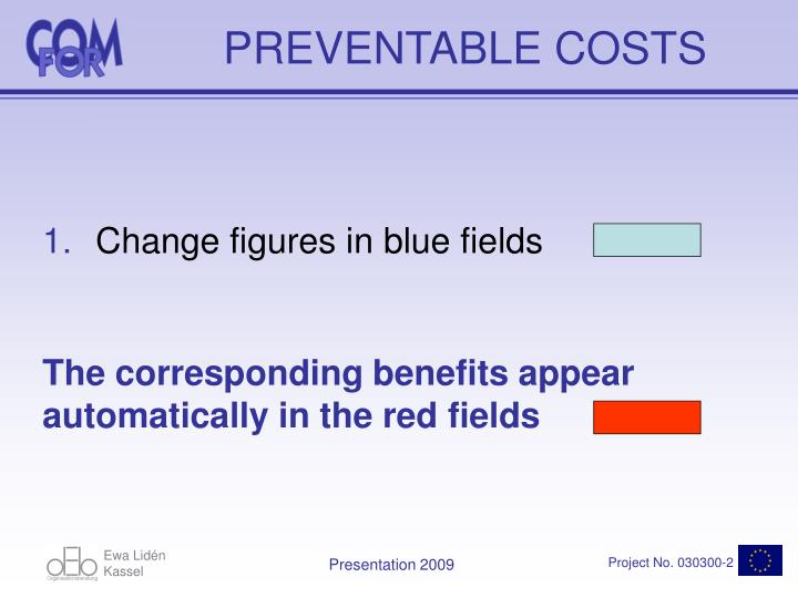 PREVENTABLE COSTS