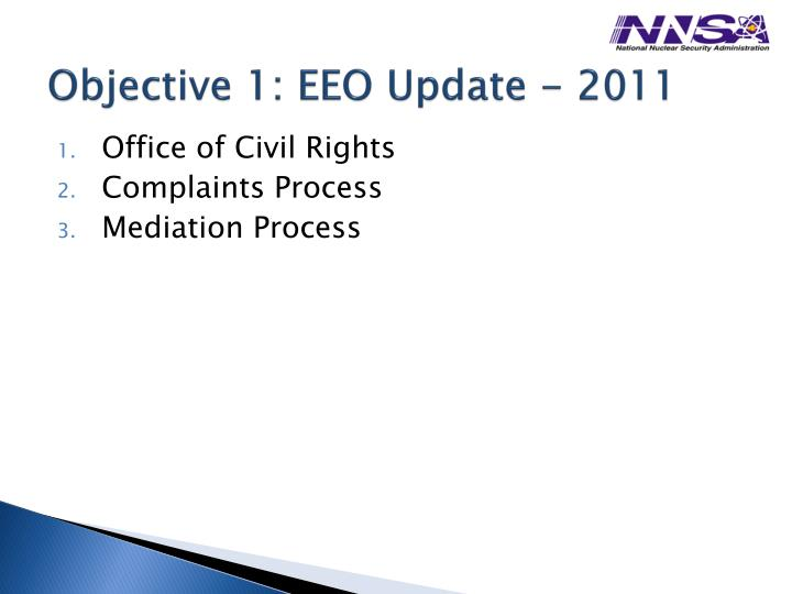 Objective 1 eeo update 2011