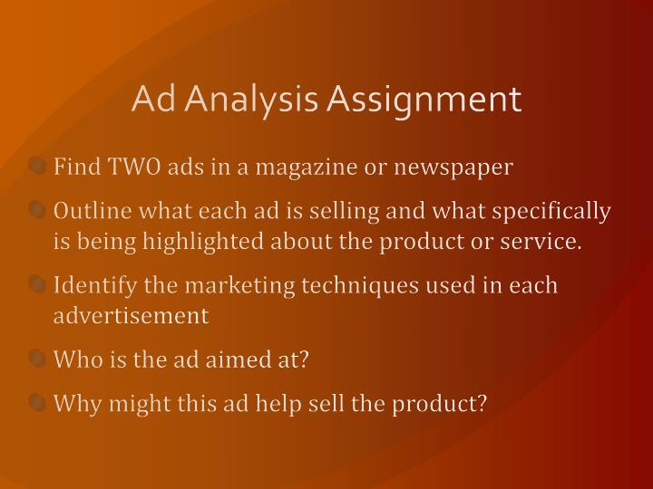 Ad Analysis Assignment