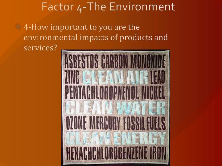Factor 4-The Environment