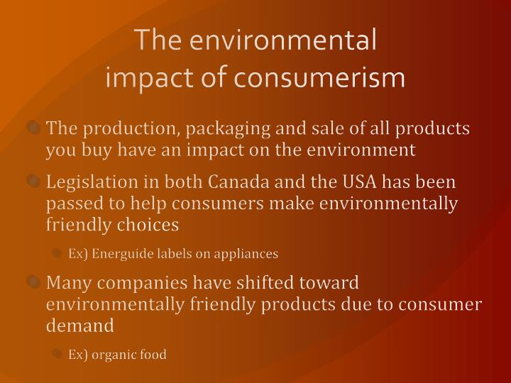 The environmental impact of consumerism