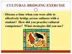 cultural bridging exercise