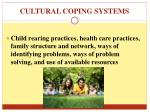 cultural coping systems