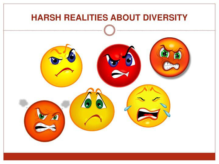 HARSH REALITIES ABOUT DIVERSITY