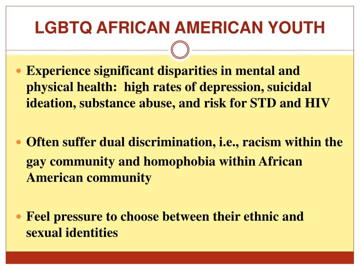 LGBTQ AFRICAN AMERICAN YOUTH