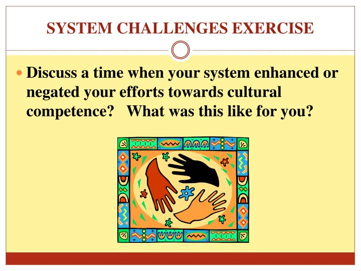 SYSTEM CHALLENGES EXERCISE