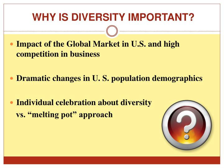 WHY IS DIVERSITY IMPORTANT?