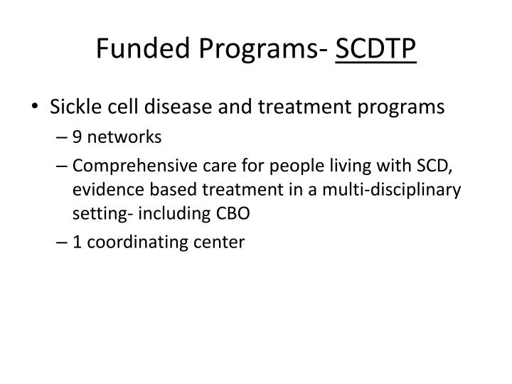 Funded Programs-