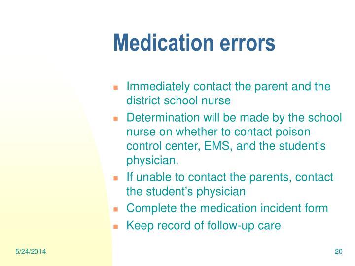 medication administration errors