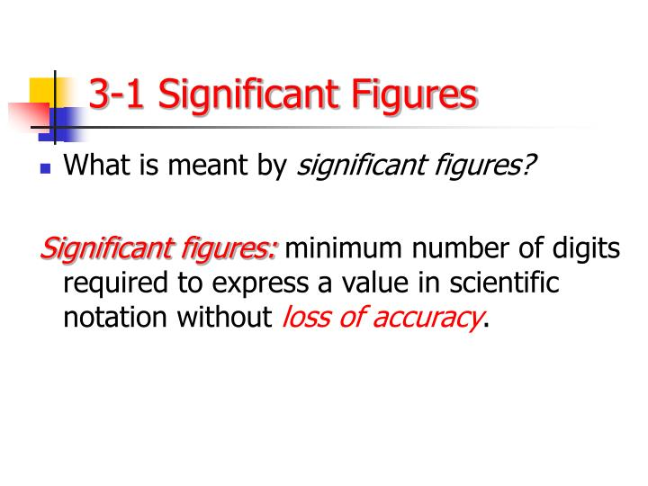 3-1 Significant Figures
