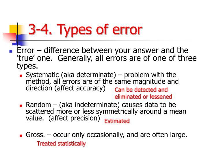 3-4. Types of error