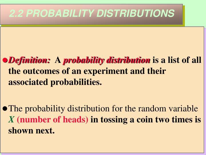 2.2 PROBABILITY