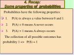 4 recap some properties of probabilities