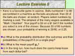 lecture exercise 5