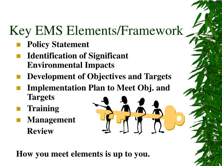 Key EMS Elements/Framework