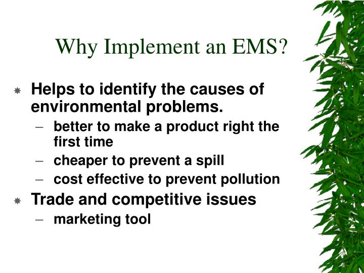 Why Implement an EMS?