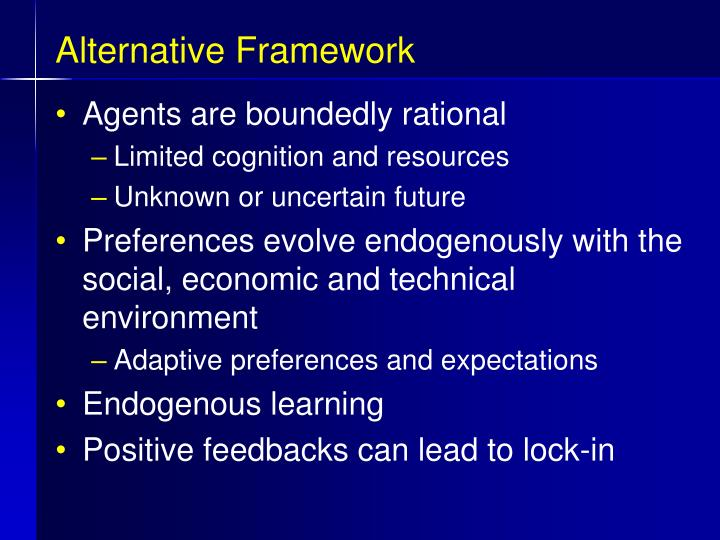 Alternative Framework