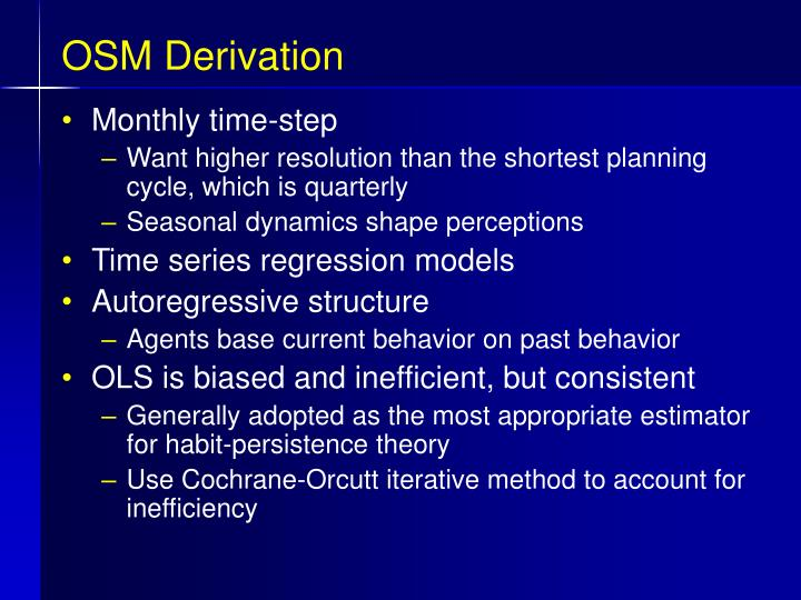 OSM Derivation